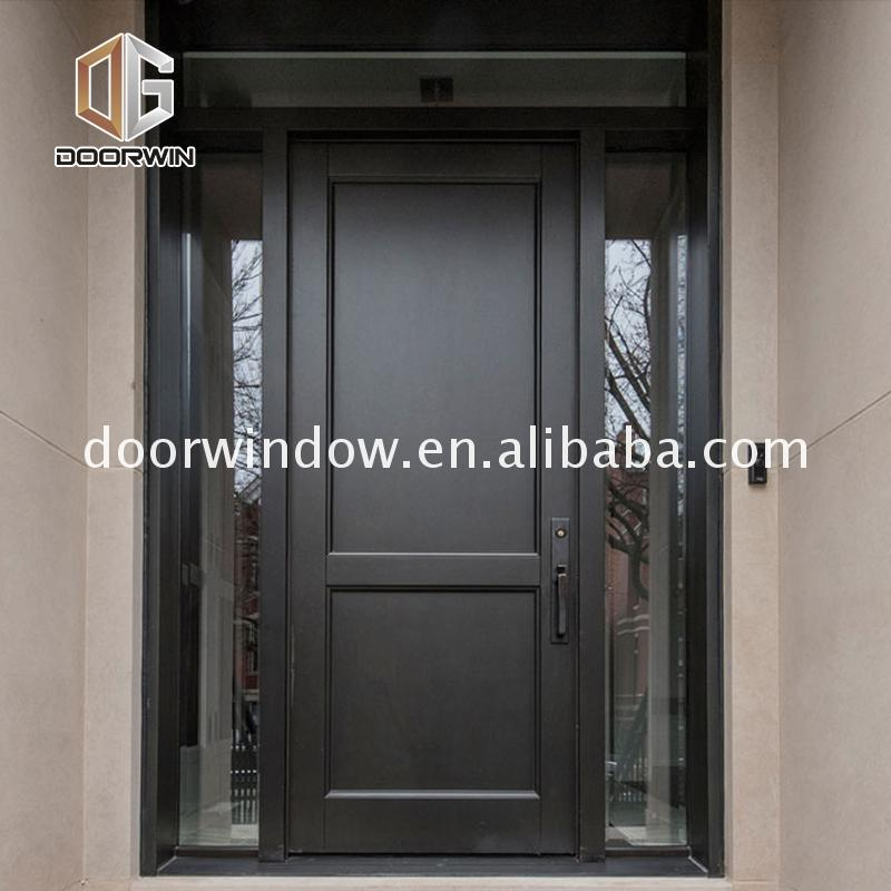 Chinese factory interior wood doors with glass panels inserts