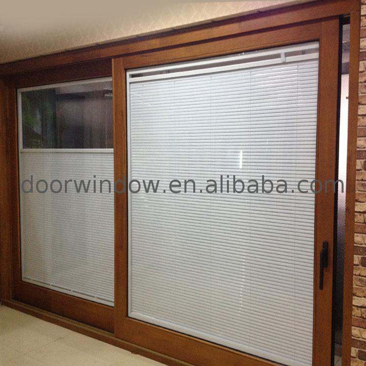 Chinese factory timber folding sliding doors three panel patio door pane