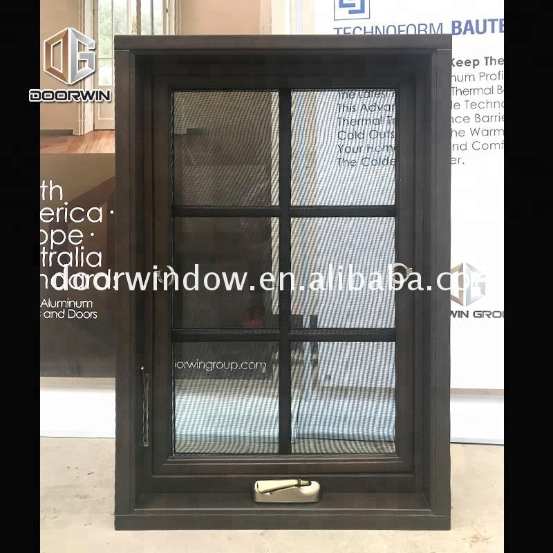 Crank window with double glazing swing out casement windows