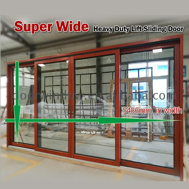 Curved glass sliding door competitive price commercial aluminum doors by Doorwin on Alibaba