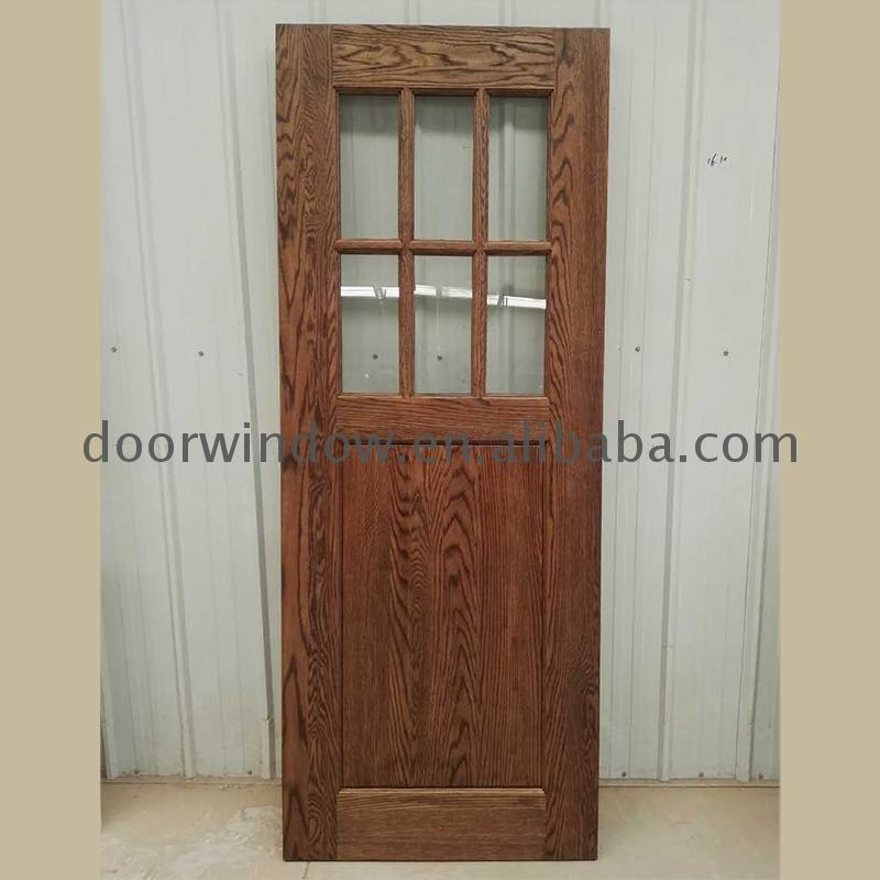 Custom color 28 inch interior door with glass