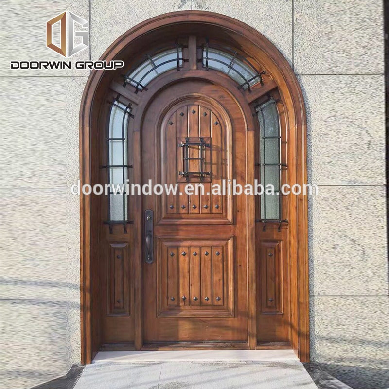 Custom front main gate design security solid wood entry door by Doorwin