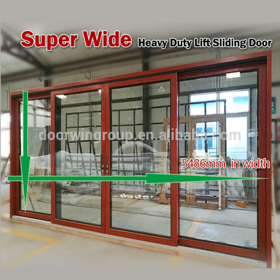 Customized Easy Sliding Strong Lift Double Sash Wood Grain Surface Aluminum Gliding Door Double Glazed Glass Gliding Gate - China Double Sash Aluminum Gliding Door, Double Glazed Sliding Door