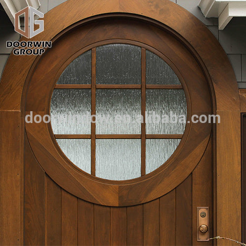 Doorwin door grill design arched top wooden decoration interior door for villa by Doorwin