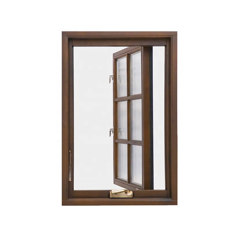 Double glazed timber window aluminium wood composite door and windows frame