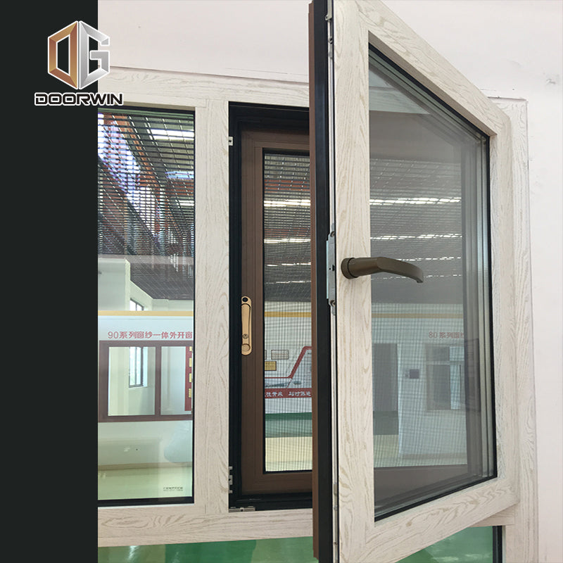 Dual pane tilt turn window double glass cheap price windows by Doorwin on Alibaba