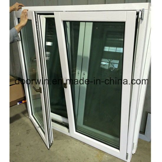 Europe Style Solid Wood Aluminum Window White Color Painting - China Aluminum Window, Wood Window