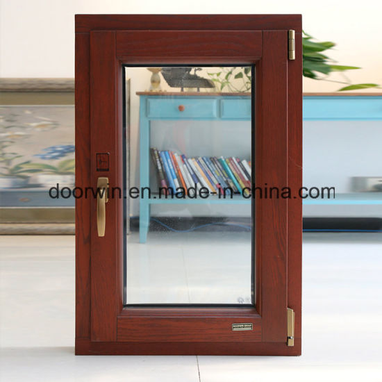 European Style Aluminium Red Oak Wood Tilt/Turn Window - China Red Oak Wood Window, Oak Wood Aluminum Window