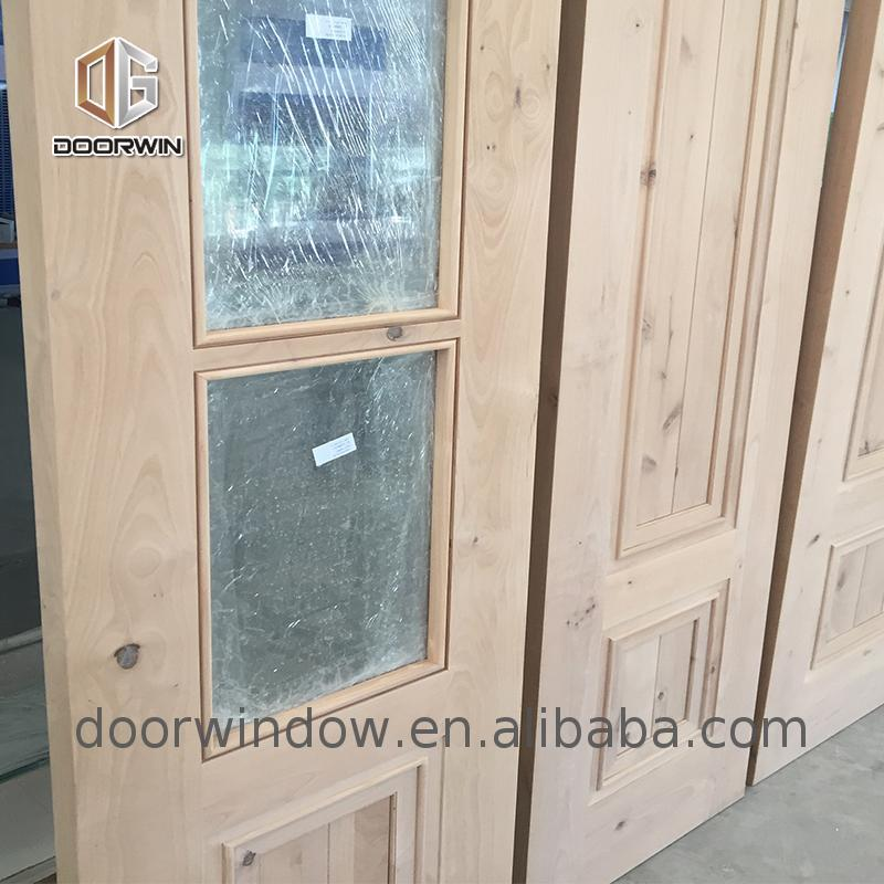 Exterior door with opening window flower designs curved glass