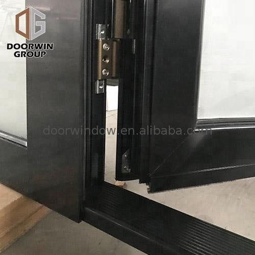 External doors aluminium swing exterior frameless glass aluminum door with by Doorwin on Alibaba