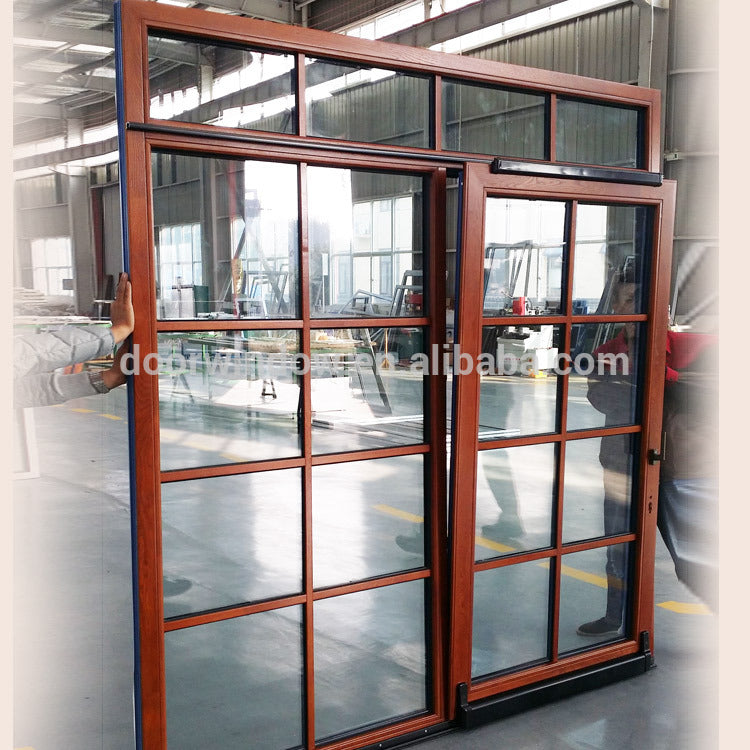 Factory Direct Sales patio door with transom above grids