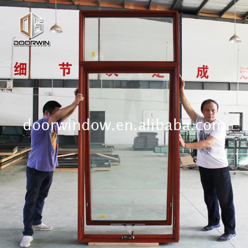 Factory Good price crank casement windows awning window wood