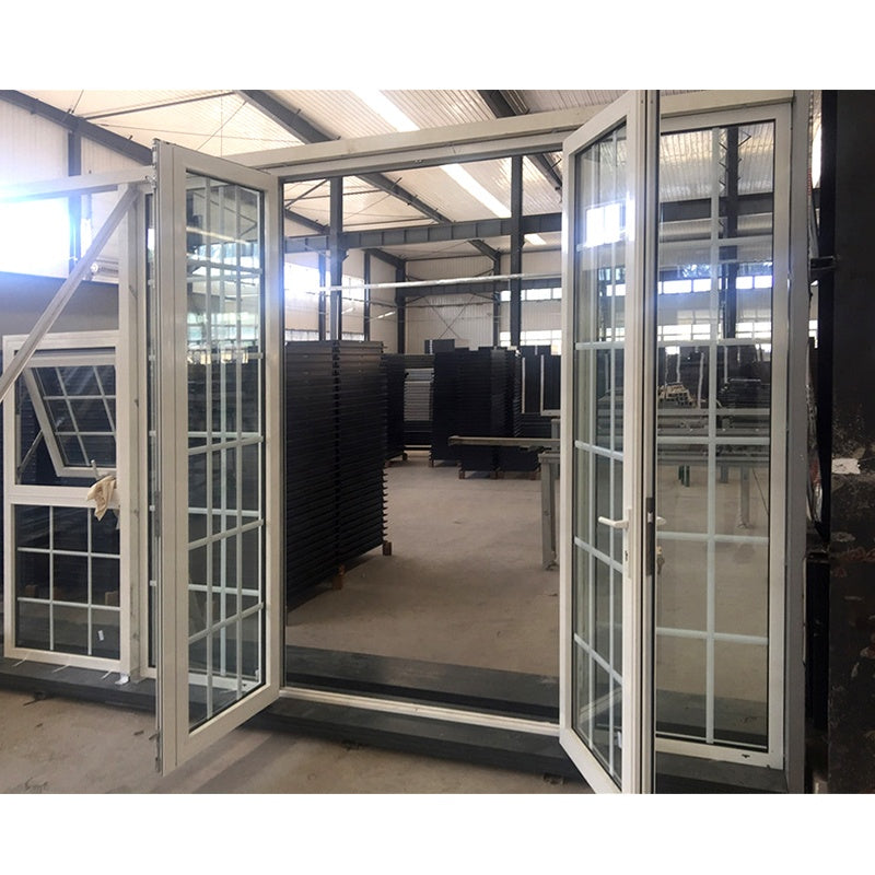 Factory custom aluminum windows and doors window with grill design