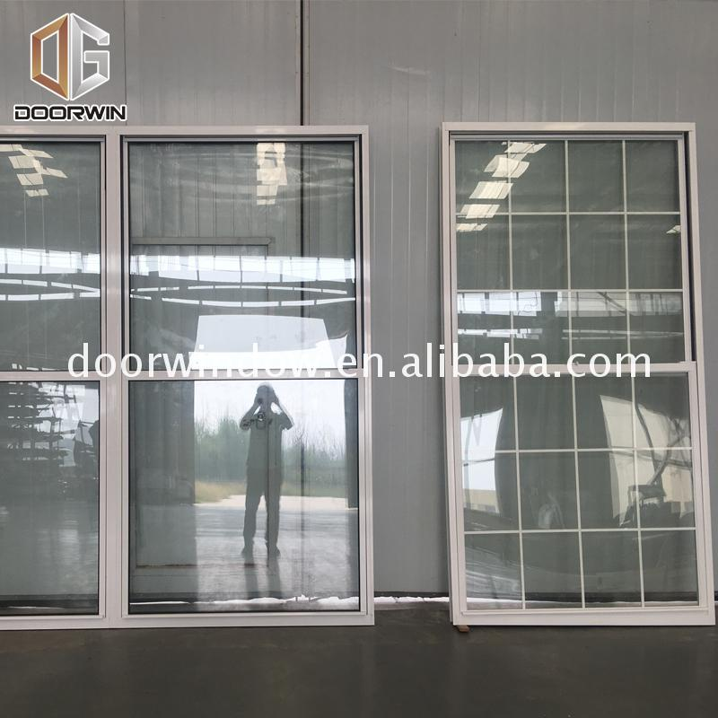 Factory custom wood grain aluminium windows window treatments for double hung grills sliding