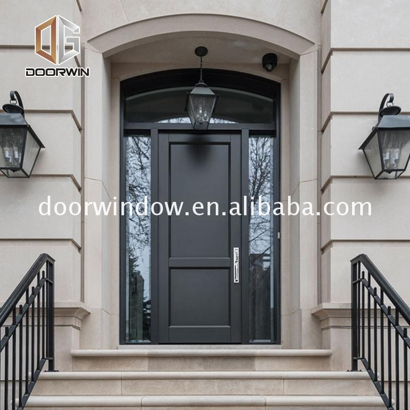 Factory direct selling commercial entrance doors cheap internal wooden entry with sidelites
