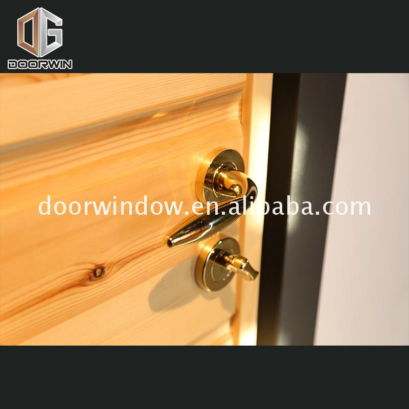 Factory direct selling standard wood door sizes soundproof french doors solid frame
