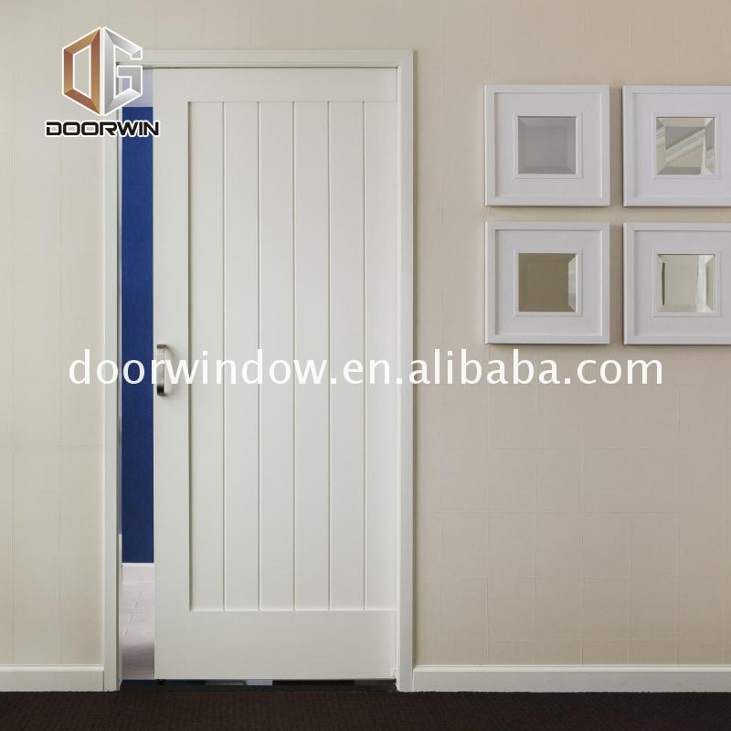 Factory direct selling white veneer doors barn door with frosted glass vintage office