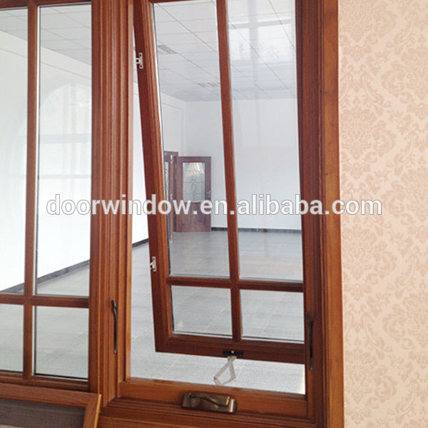 Factory direct selling windows that open out window wood awning with handle
