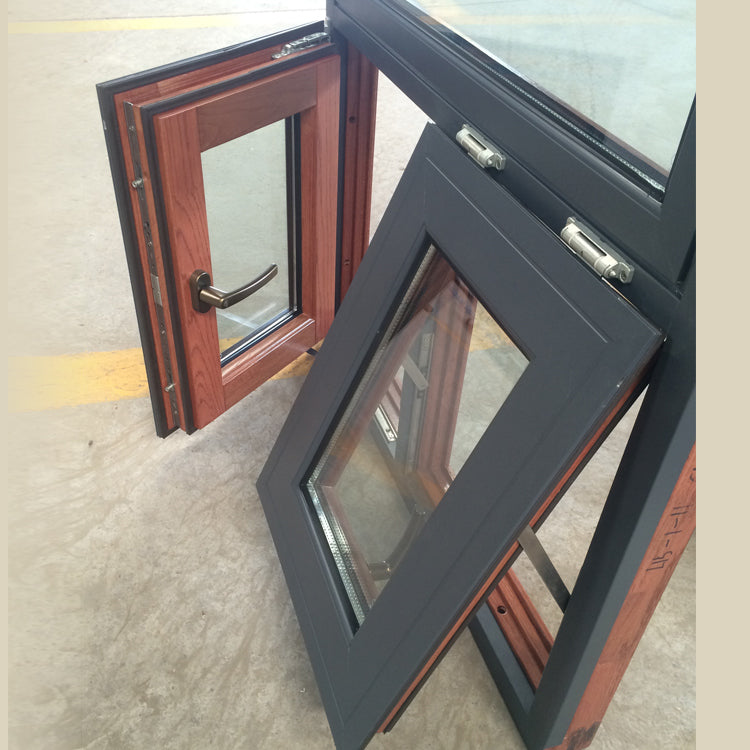 Factory direct selling wooden awning windows wood window timber