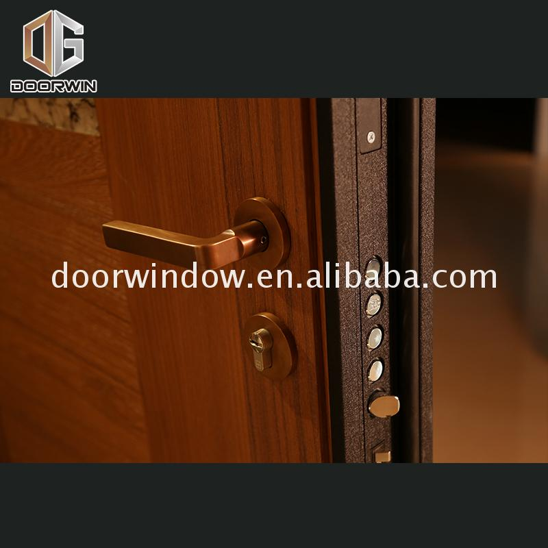 Factory direct supply 4 panel exterior wood door