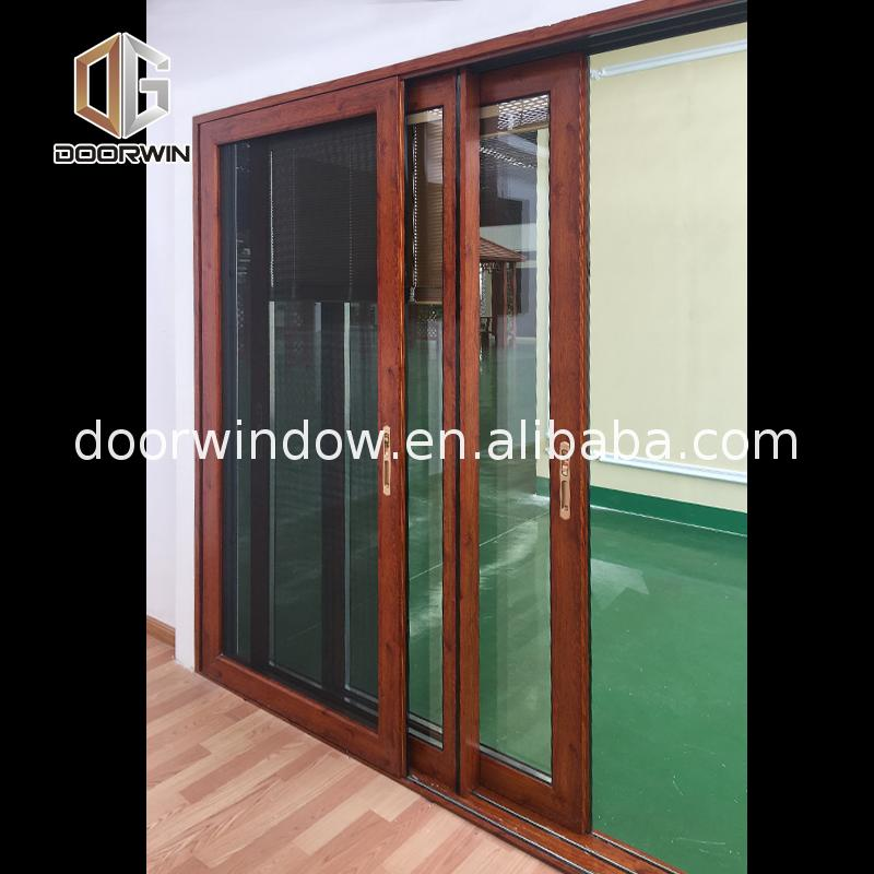 Factory direct supply four panel patio door glazed glass
