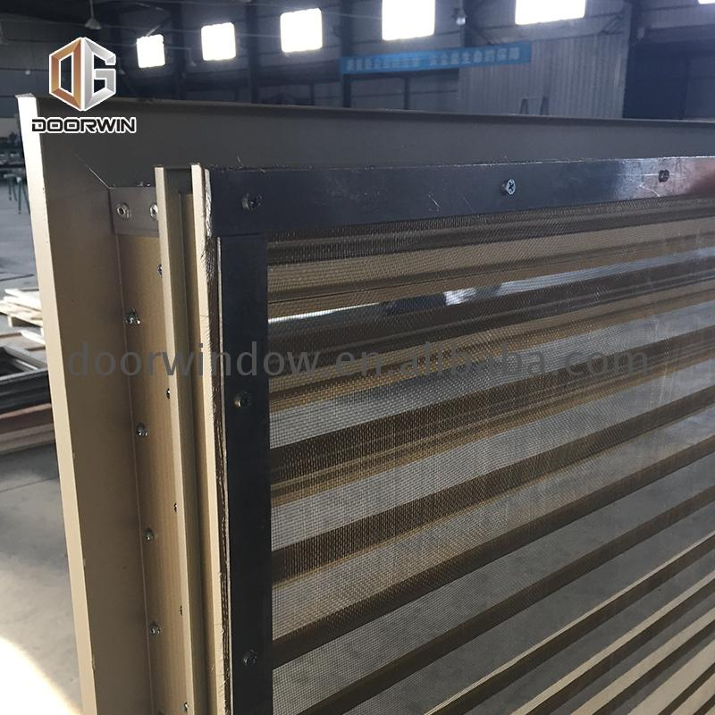 Factory made new construction single hung windows mini blind for door window louvered awnings