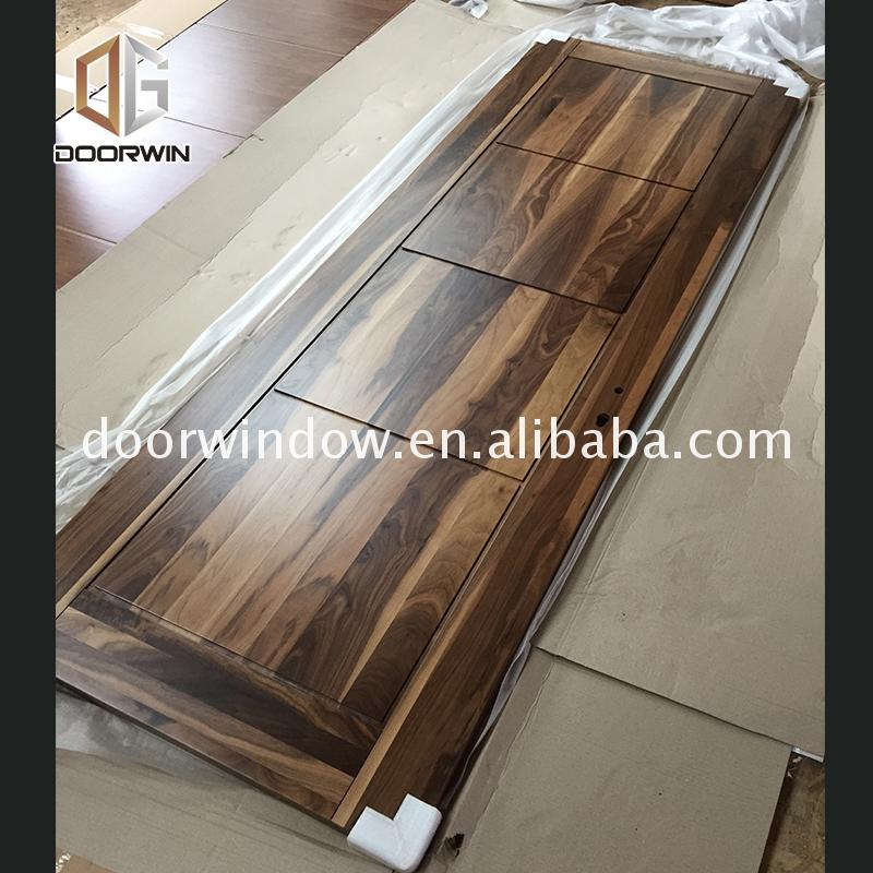 Factory made wooden door design for home company colour