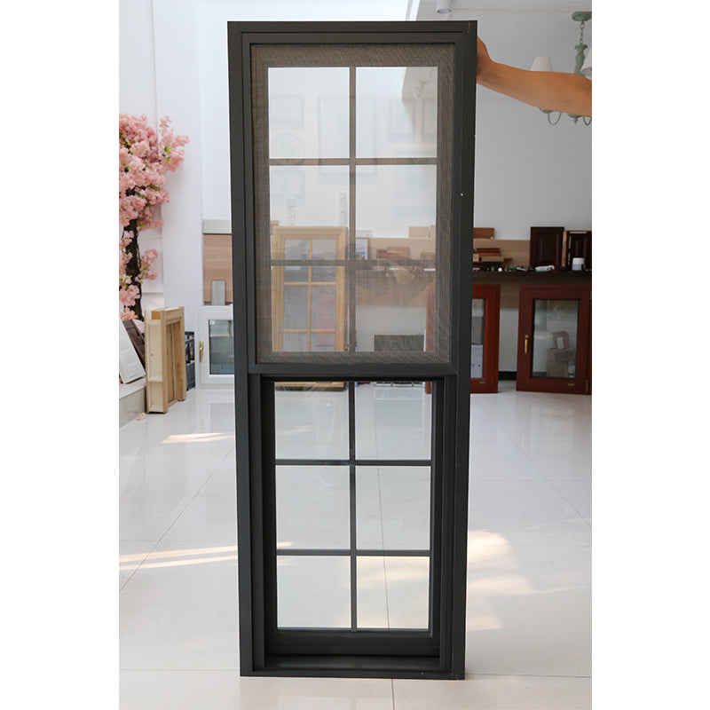 Factory sale triple hung windows tilt up aluminum window thermal break