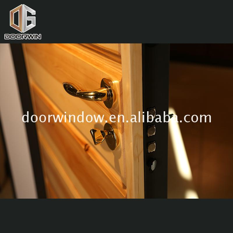 Factory supply discount price external hardwood doors exterior wood entry for home