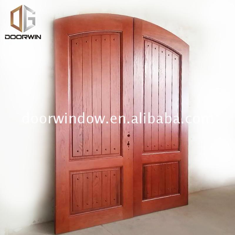 Factory supply discount price solid oak wood front doors for sale