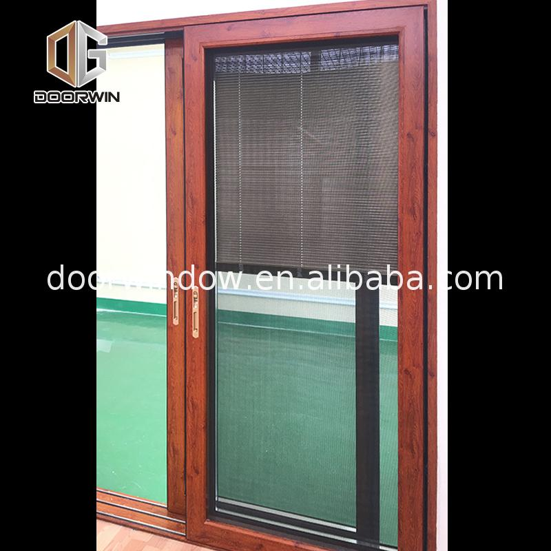 Fashion frosted glass sliding doors front net door design four panel patio