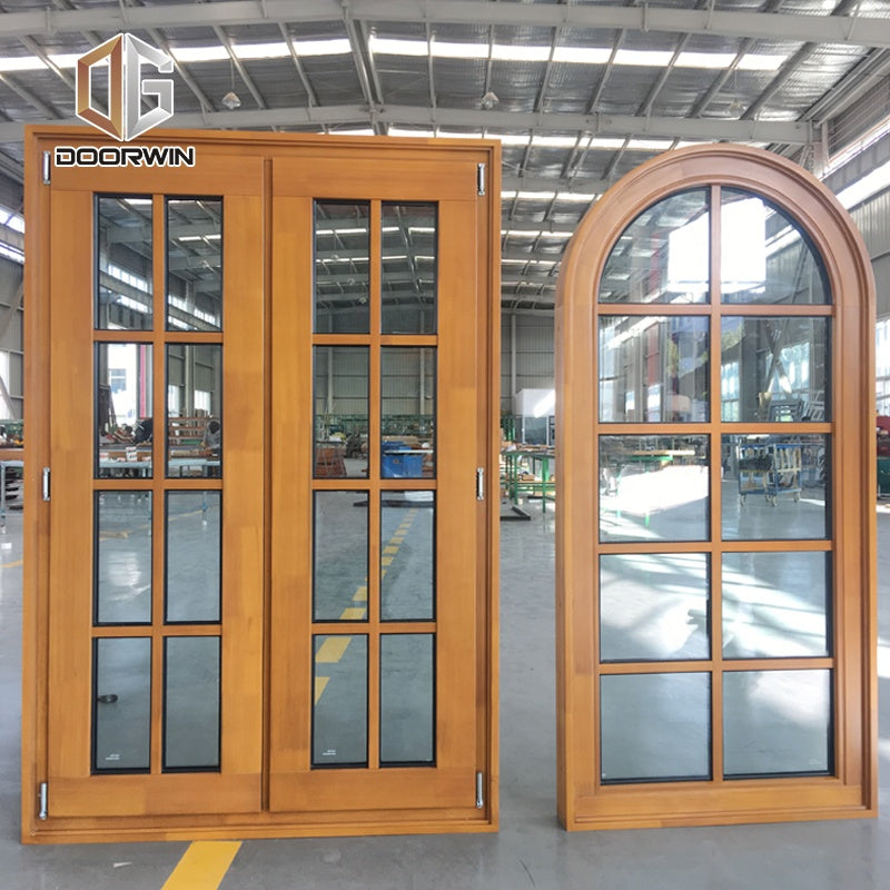 Fixed window corner double glass wood aluminum