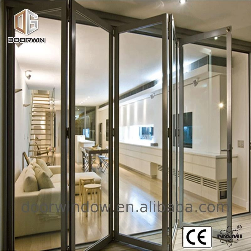 Folding partition wall glass windows and doors