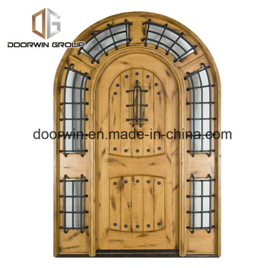 French Arched Entry Door All Wood Doors Exterior Wood Front Doors Made of Knotty Alder - China Entry Door, French Entry Door