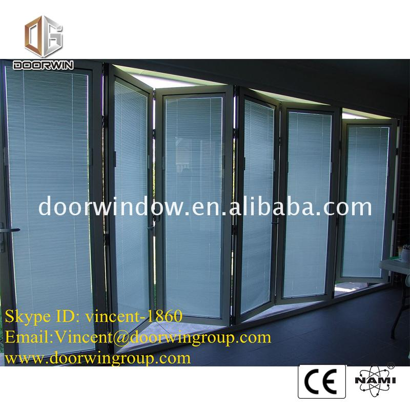 French style aluminium bi-fold windows and doors foshan folding door comply with american standard