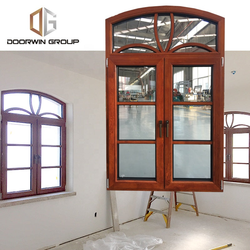 Glass window round garden arch top wood grille french casement windowsby Doorwin on Alibaba