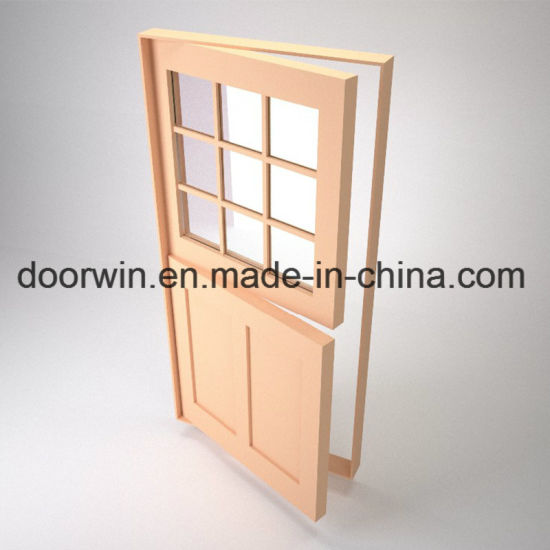 Good Daylighting Transmittance Exterior Wood Front Doors White Color Dutch Door - China Entry Doors, Dutch Door