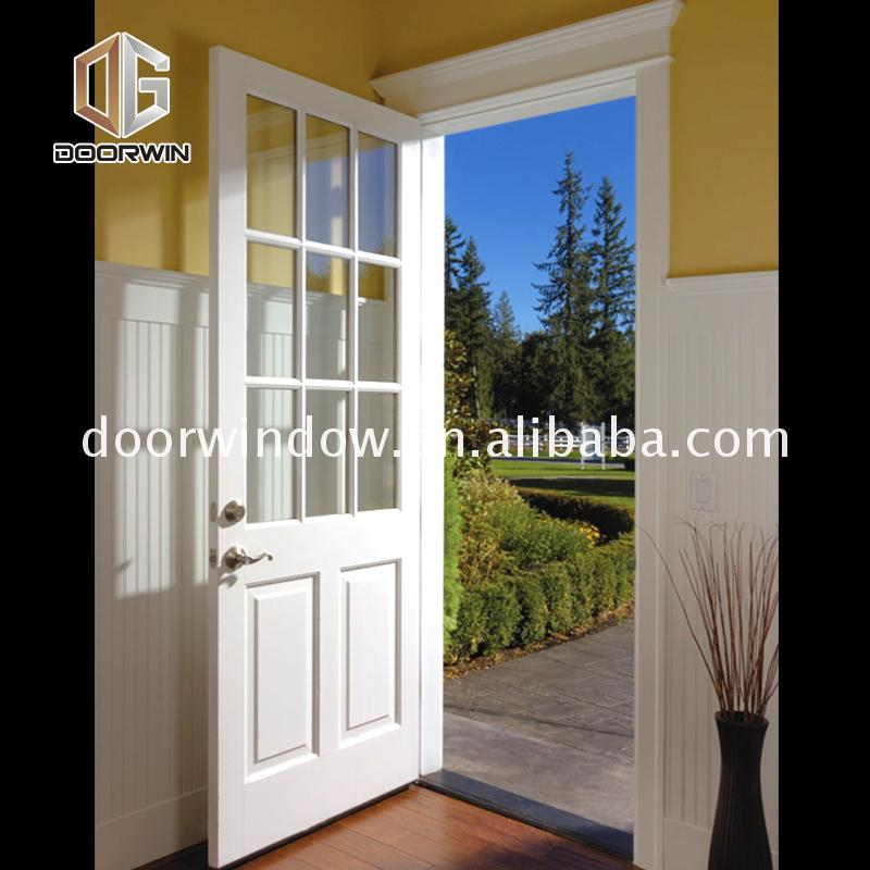 High Quality Wholesale Custom Cheap internal bedroom doors interior wood with frosted glass double