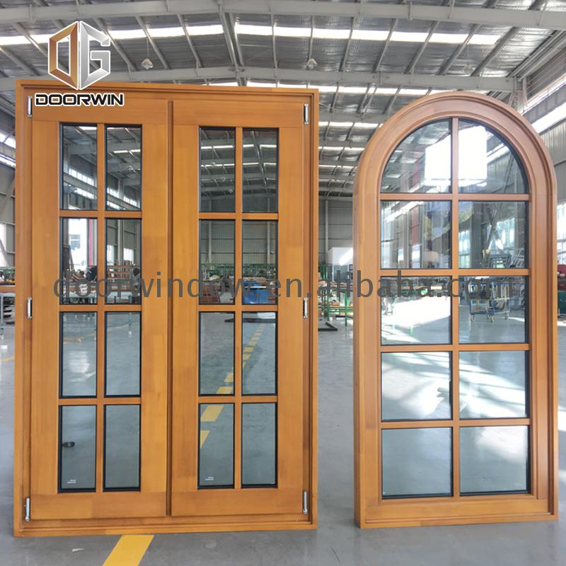 High quality small arched window semi arch round wooden windows for sale