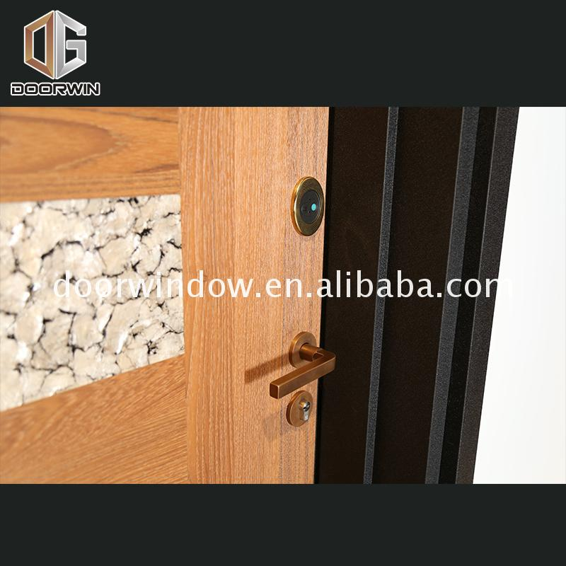 Hot sale factory direct six panel wood doors security and windows for homes door installation lowes