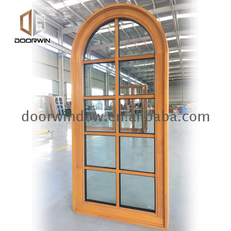 Hot sale factory direct wooden arch window windows with half moon on top an