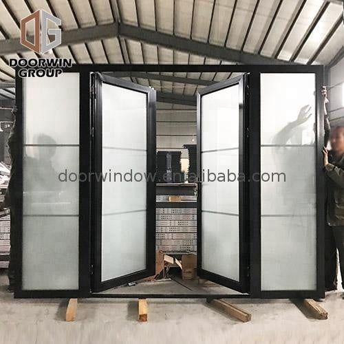 Inswing or outswing exterior doors impact glass entry house front door by Doorwin on Alibaba