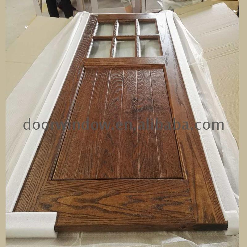 Interior swinging french doors office door with glass window half by Doorwin on Alibaba