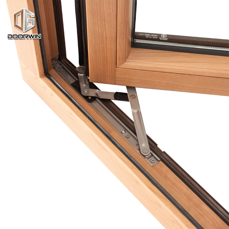Las Vegas inexpensive professional double glazed aluminium wood windows 3 glass by Doorwin