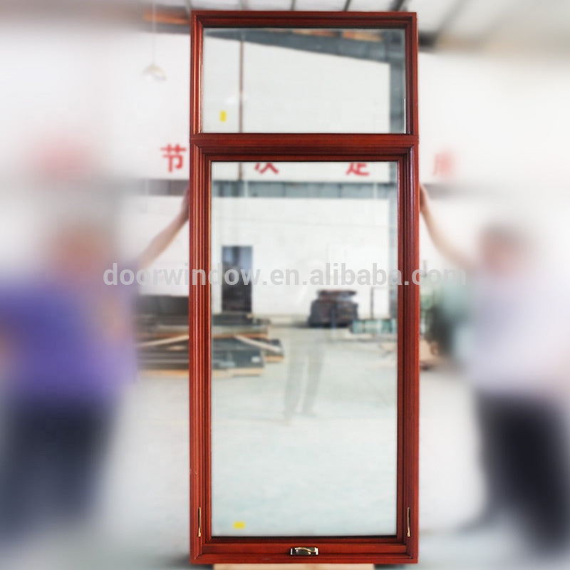Louver glass window green curtain by Doorwin on Alibaba