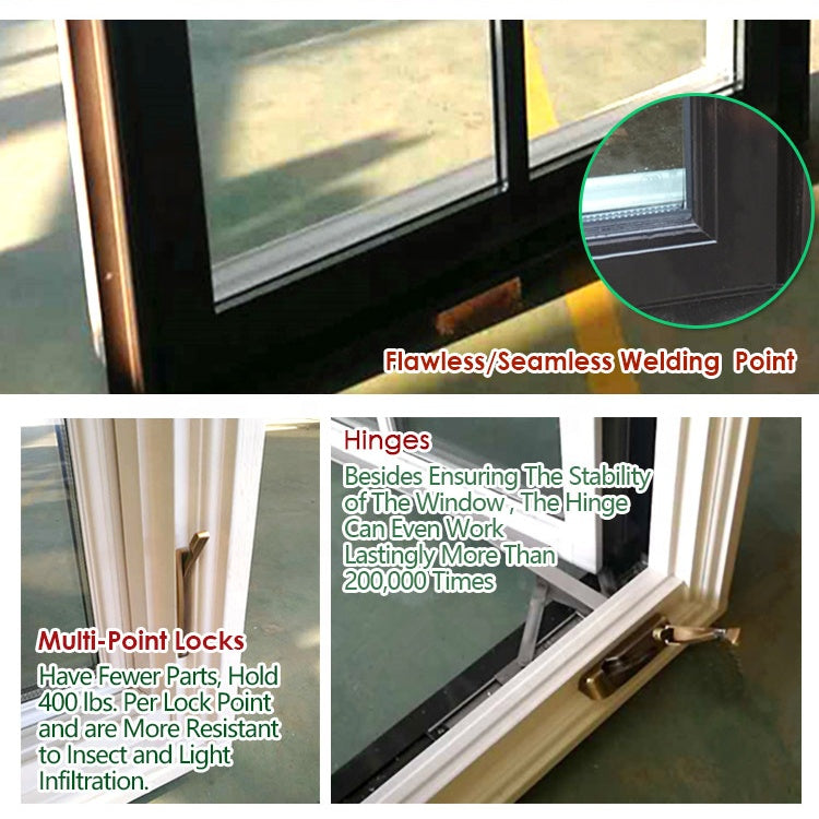 Low price aluminum wood casement windows window with grill design coated wooden