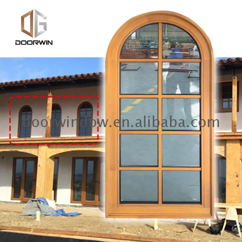 Manufactory Wholesale house window design architecture half-round aluminum half round windows price