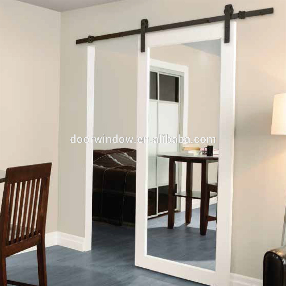 Marriott Hotel Bathroom Barn Door with Mirror by Doorwin