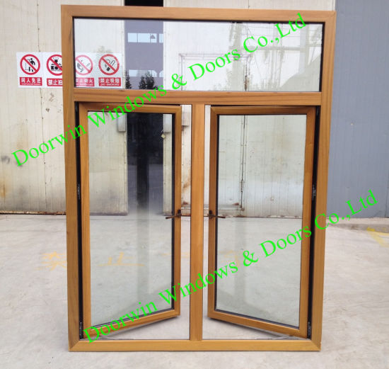 Middle East Teak Wood Aluminum Window, Imported Solid Teak Wood Aluminum Window for Mideast Clients - China Wood Window, Wood Windows