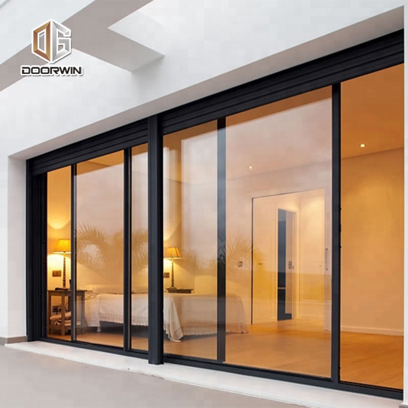 Montreal Painted glass wardrobe sliding door outside front doors office system by Doorwin on Alibaba
